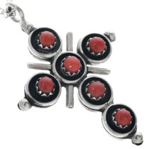 Native American Sterling Silver Cross Pendant 33156