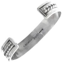 Zuni Artist Charlotte Dishta Sterling Silver Cuff Bracelet 33157