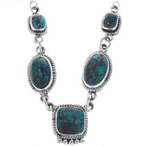 Turquoise Sterling Silver Necklace 33160