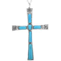 Turquoise Cross Pendant 33162