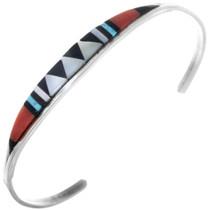 Turquoise Inlay Zuni Bracelet 33163
