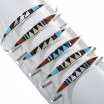 Sterling Silver Turquoise Coral Bracelet 33163