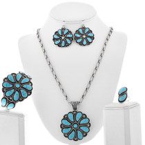 Native American Turquoise Necklace Set 33169
