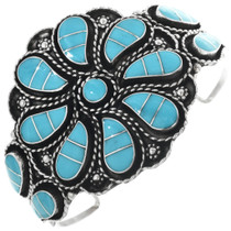 Silver Turquoise Inlay Bracelet 33169