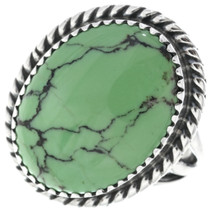 Green Turquoise Silver Ladies Ring 33178