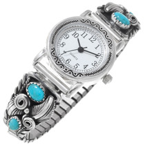 Navajo Turquoise Silver Watch 33181