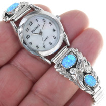 Sterling Silver Navajo Ladies Watch 33182