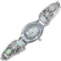Navajo Sterling Silver Opal Watch 33183
