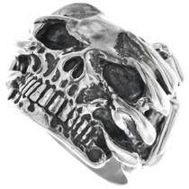 Sterling Silver Skull Ring 33184