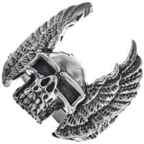 Navajo Winged Skull Ring 33187