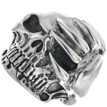 Sterling Silver Skull Ring 33189