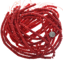 8mm Rondelle Coral Beads 32755