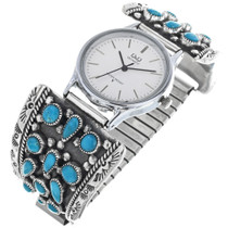 Vintage Sleeping Beauty Turquoise Mens Watch 33201