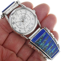 Lapis Lazuli Turquoise Inlay Mens Watch 33206