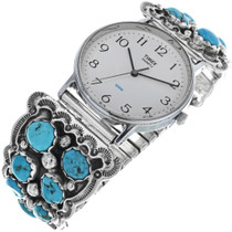 Vintage Navajo Turquoise Mens Watch 33207