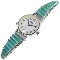 Vintage Inlaid Turquoise Ladies Watch 33208