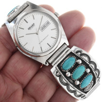 Old Pawn Turquoise Native American Watch 33215