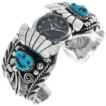 Sleeping Beauty Turquoise Vintage Watch Cuff 33216