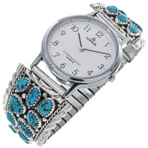 Vintage Turquoise Navajo Watch 33217