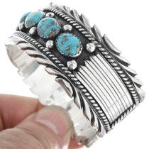 Native American Turquoise Silver Bracelet 33222