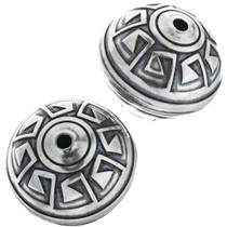 12mm Sterling Silver Aztec Bench Bead 32758