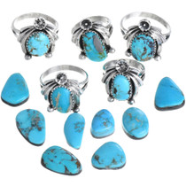 Kingman Turquoise Ladies Ring 33224