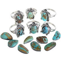 Nevada Turquoise Native American Ring 33225