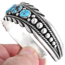 Turquoise Nugget Sterling Silver Bracelet 33229