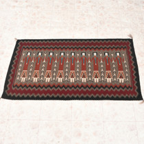 Vintage Navajo Yei Wool Rug 33230