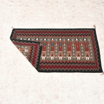 Finely Woven Native American Wool Rug 33230