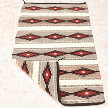 Navajo Wide Ruins Banded Pattern Wool Weaving 33231