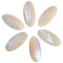 Natural Mother of Pearl Cabochons 32767