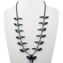 Vintage Pueblo Fetish Heishi Necklace 33253