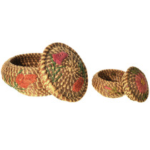 Native American Pine Needle Basket 33256