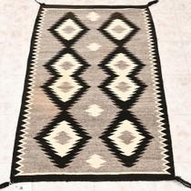 Vintage Navajo Handspun Wool Rug 33257