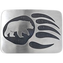 Navajo Hand Made Bear Paw Belt Buckle 33262