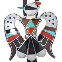 Vintage Zuni Thunderbird Bolo Tie 33263