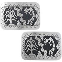 Hand Made Navajo Overlay Buckle Kokopelli Designs 33265