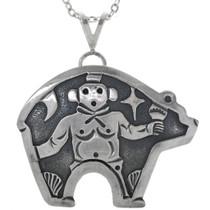 Sterling Silver Kachina Bear Pendant 33266