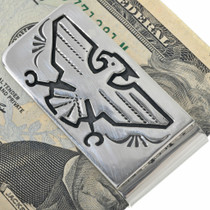 Hand Made Navajo Overlay Money Clip 33274