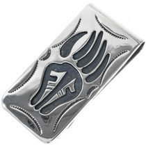 Navajo Silver Bear Paw Money Clip 33278