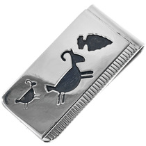 Navajo Petroglyph Money Clip 33279
