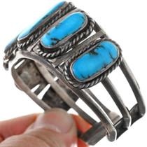 Vintage Sterling Silver Navajo Bracelet 33283