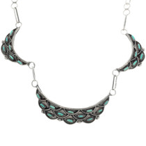 Sterling Silver Turquoise Zuni Necklace 33284