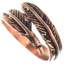 Native American Copper Feather Ring 33286