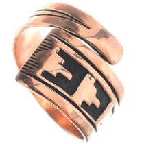 Navajo Copper Overlay Ring 33291