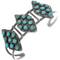 Old Pawn Zuni Turquoise Bracelet 33293