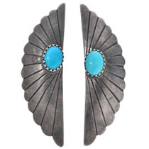 Vintage Sterling Silver Turquoise Earrings 33299