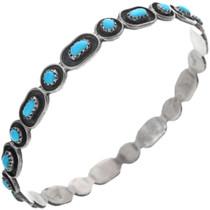 Sterling Silver Turquoise Bangle Bracelet 33307