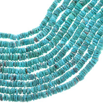 Natural Turquoise Rugged Finish Heishi Beads 32784